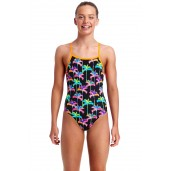 Funkita Palm Drive Girls Tie Me Tight One Piece