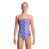 Funkita Party Pieces Girls Cross Back One Piece
