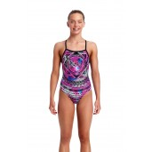 Funkita Skull Swim Girls Strapped In One Piece