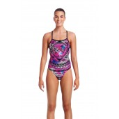 Funkita Skull Swim Ladies Strapped In One Piece