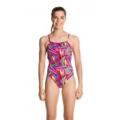 Funkita Crystal Clash Girls Strapped In One Piece