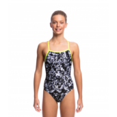 Funkita Midnight Assassin Girls Strapped In One Piece