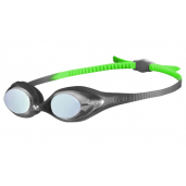 Arena Spider Junior Mirror Goggles - Black/Green