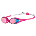 Arena Spider Junior Mirror Goggles - Pink/White